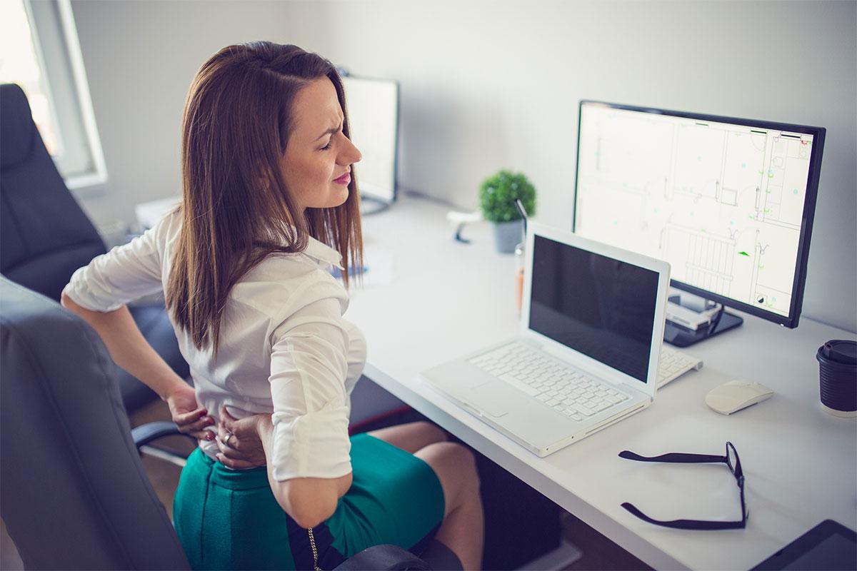 Chaise de bureau et maux de dos